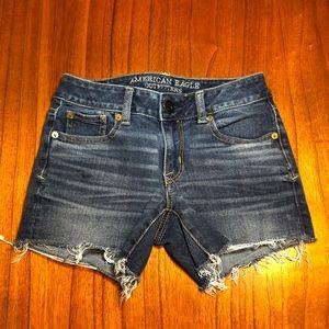 American Eagle super stretch cutoff jean shorts